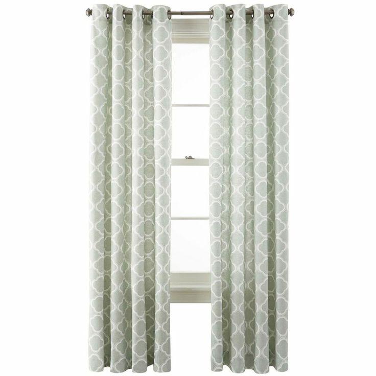 jcpenney jcp home nolan grommet top cotton curtain panel