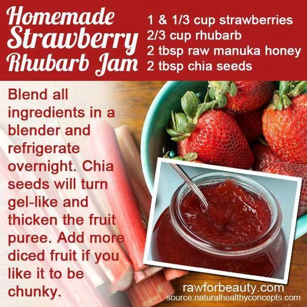 Rhubarb, strawberry jam | Easy Healthy Recipes | Pinterest