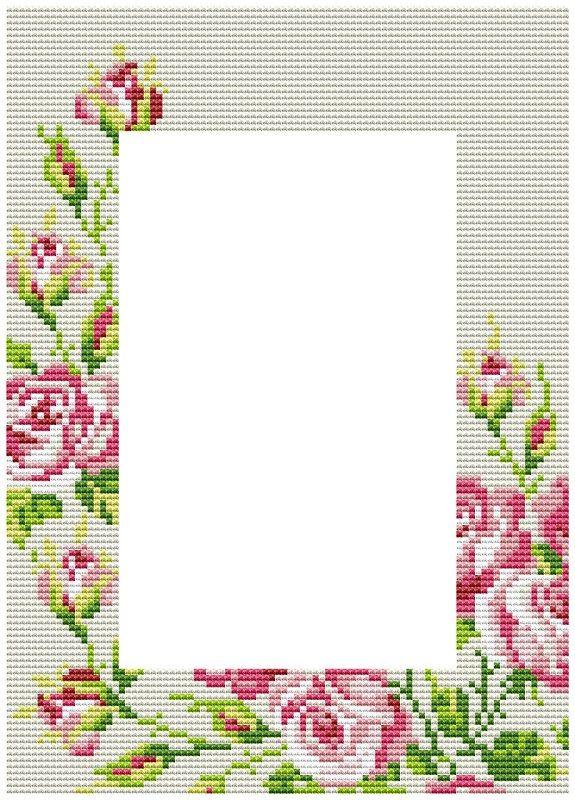 Вышивка схема рамочек фото