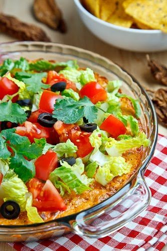 Taco Dip - I used entire 8 oz of cream cheese. Used low fat as much as ...