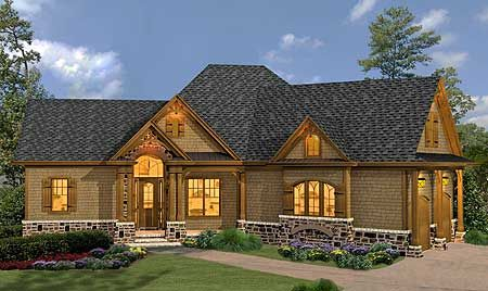 Classic hip roofed cottage with options for Classic cottage house plans
