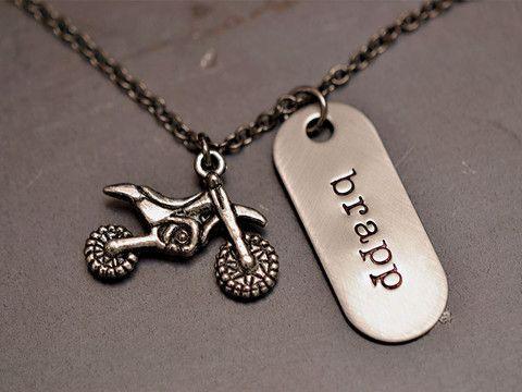 brapp dirt bike necklace braaap