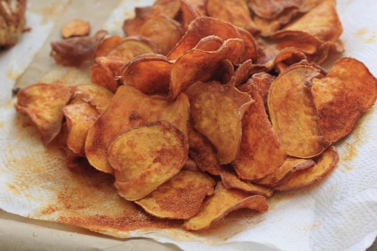 BBQ Sweet Potato Chips Southern Souffle | Tailgate Food | Pinterest