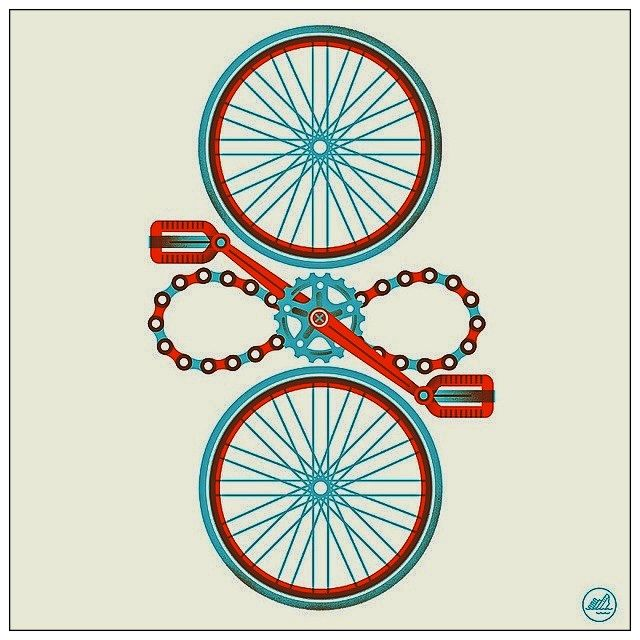 Minimalist cycle art | Cycling | Pinterest