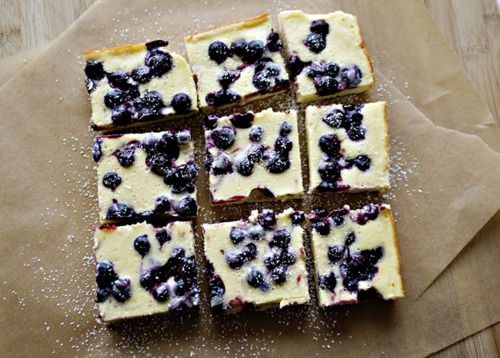 blueberry cheese cake bars | Recipes | Pinterest