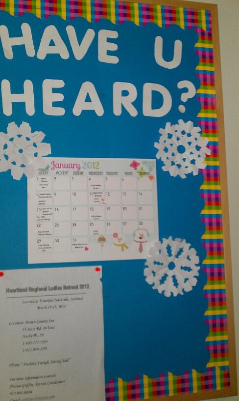 winter announcement board at church bulletin boards
