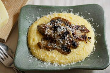 Soft polenta with mushrooms - Frank Camorra (Good Food)