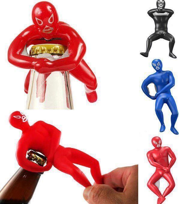 Mexican wrestling bottle opener huaa products i love pinterest - Wrestler bottle opener ...