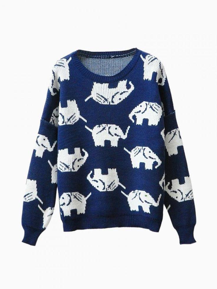 Knitting Jumpers For Elephants Fake : Elephant sweater elephants pinterest