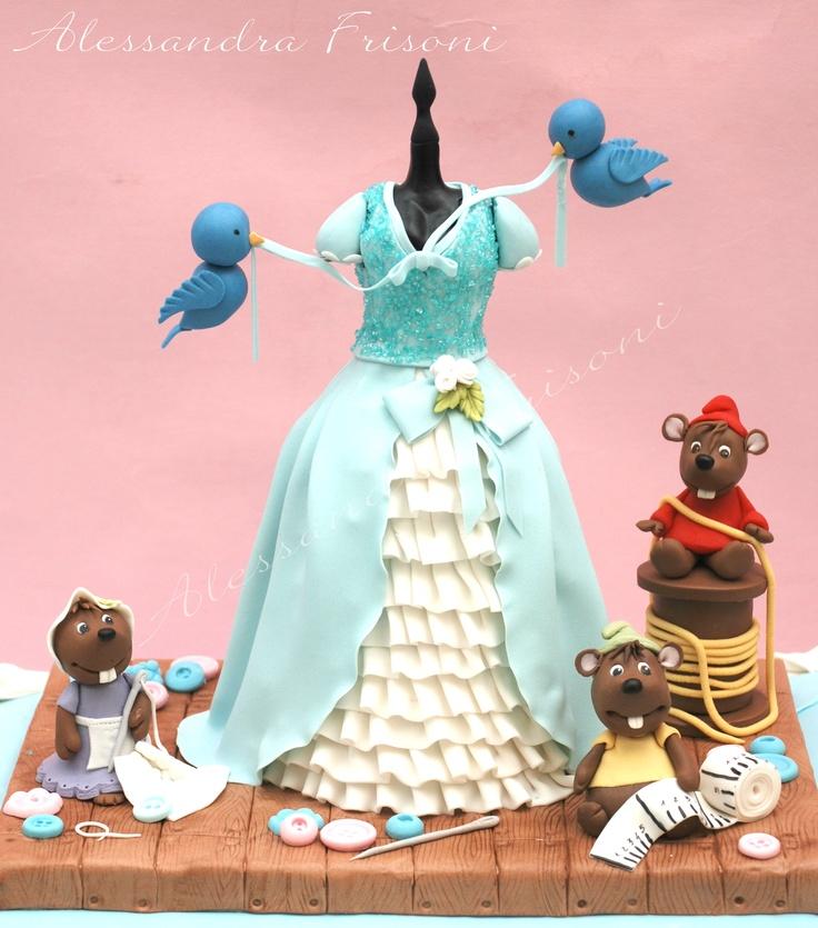 Cinderella Cake .  Frisoni Alessandra Cakes.
