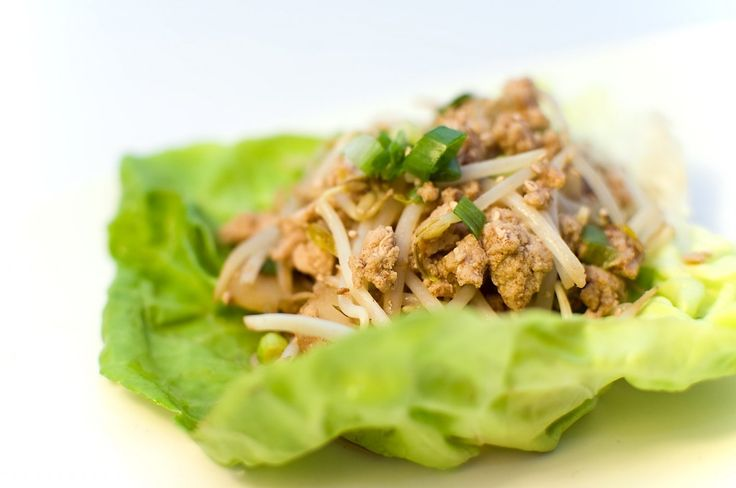 chicken lettuce wraps spicy possibly add bell pepper after chicken ...