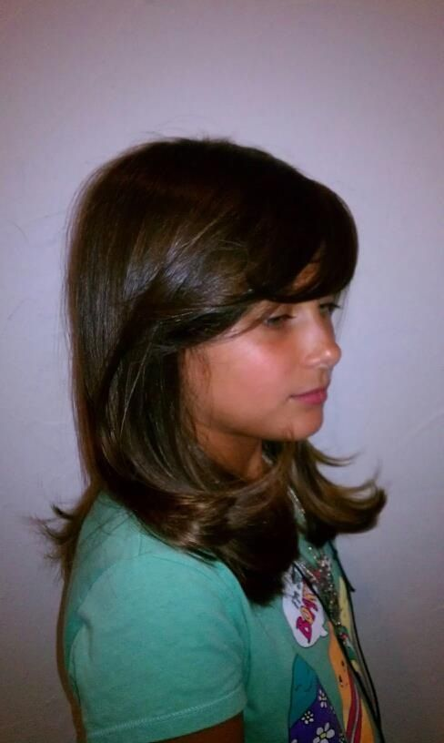Medium cut with long textured layers | Hair Cuts | Pinterest