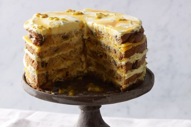 Mango and marscarpone layer cake Christmas in July recipes www.taste ...