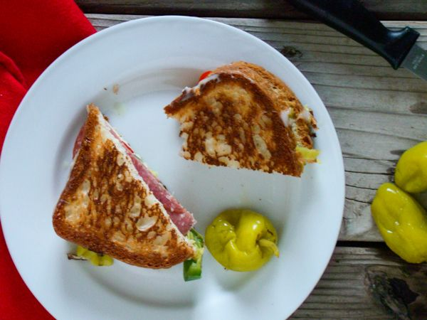 Antipasto Grilled Cheese Sandwich {Gluten Free} - Budget Gourmet Mom