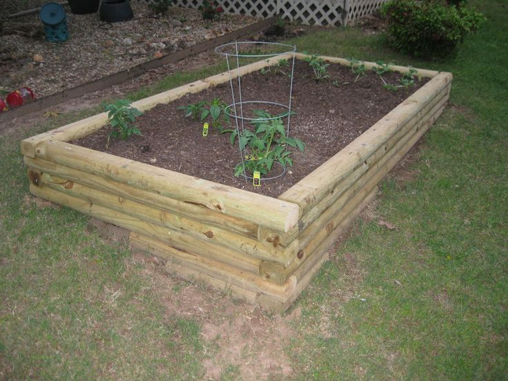raised garden beds from landscape timbers