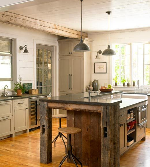 these modern rustic kitchens will make you