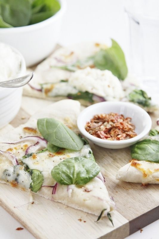 Spinach and Ricotta Pizza.