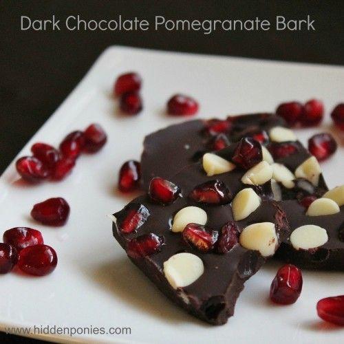 Dark Chocolate Pomegranate Bark - perfect no-bake holiday treat! | www ...
