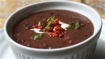 Quick and Easy Black Bean Soup.  Looks fantastic!