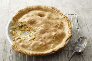Creamy Chicken Pot Pie : super easy. Uses Herb and Garlic cream cheese ...