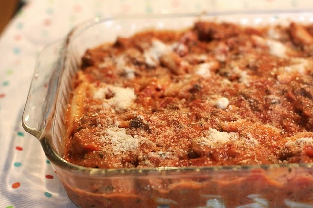 Easy baked ziti. I love an easy recipe. | FOOOOOD | Pinterest