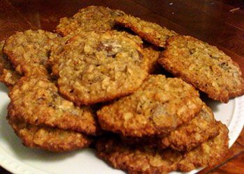 Banana Oatmeal Cookies with Coconut, Walnuts & Chocolate Chips