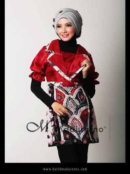 Atasan Batik Kombinasi Polos | Pusat Batik Madura | Pinterest