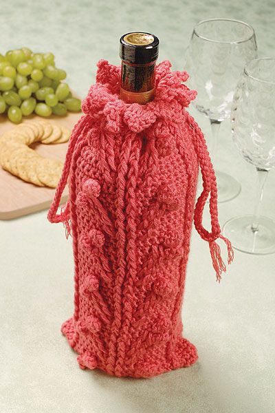 Free Crochet Pattern For Wine Bag : Crochet Wine Gift Bag Crochet & Knit Pinterest