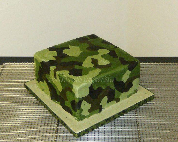 camouflage fondant cakes