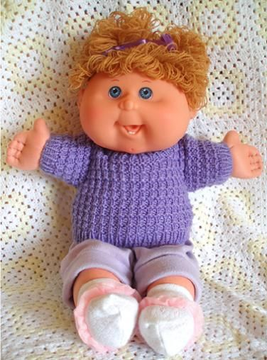 Knitting Patterns For Cabbage Patch Dolls : Pin by Laura Vervoort on Dolls/Baby clothes patterns Pinterest