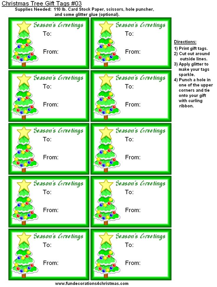 printable tree gift tags | christmas | Pinterest