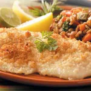 Dijon-Crusted Fish (use panko instead of plain bread crumbs! so good!)