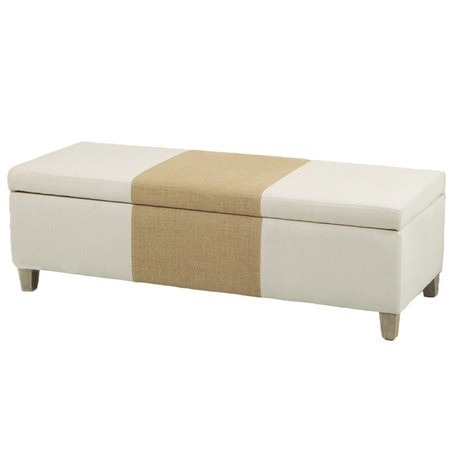 cheap by attaching a second fabric for stripe mannes storage ottoman