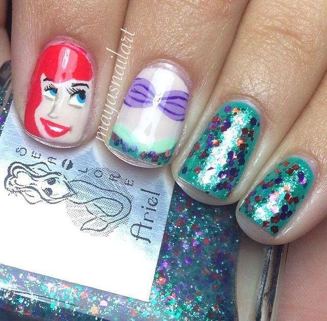 Little Mermaid Nails: 9 Simple Disney Nail Art Designs