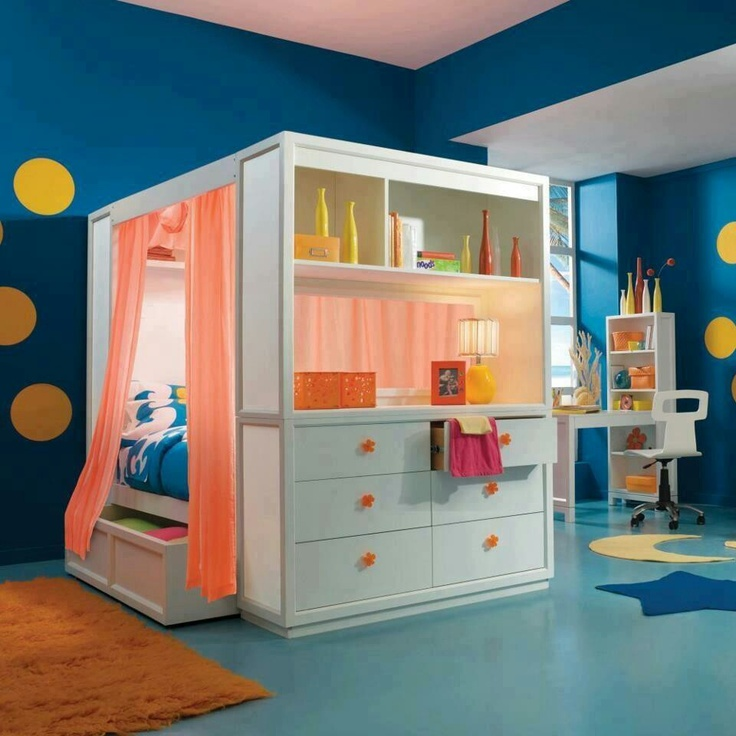 Space Saver Bed Kids Rooms Pinterest