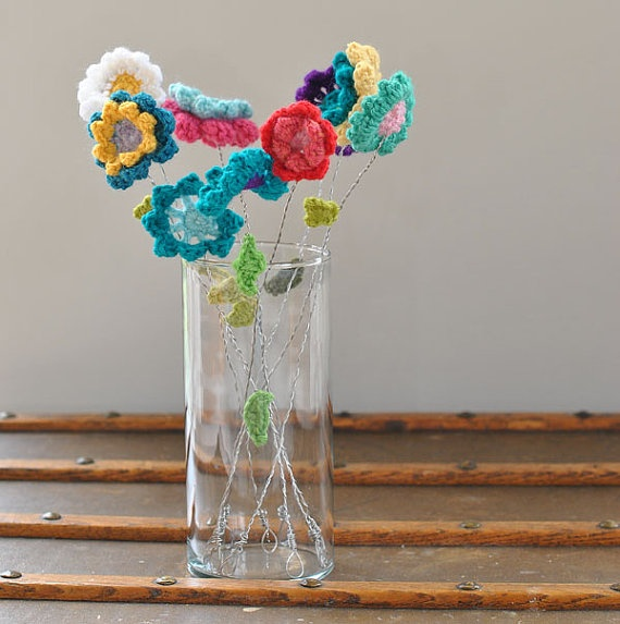 Mix And Match Crochet Bouquet by SnowFallStudio