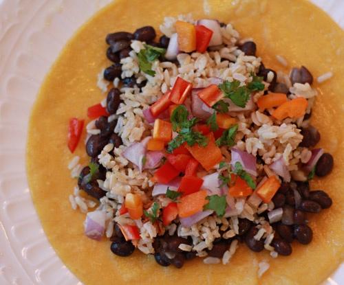 Black Bean and Rice Vegan Tacos | Vegan Protein Power | Pinterest