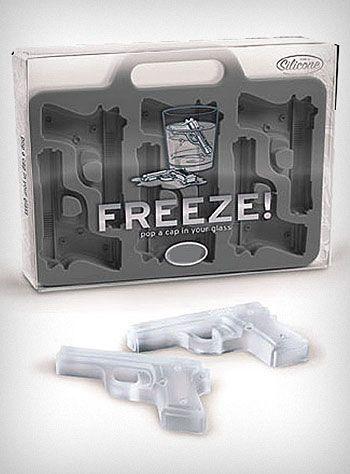 Guns ice cube tray