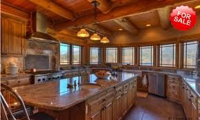 Beautiful Log Home Kitchen Rustic Old World Style Living Pinter