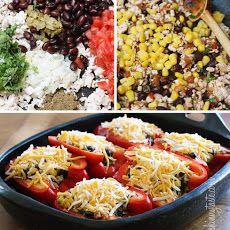 Santa Fe Turkey Stuffed Peppers Recipe | Food | Pinterest