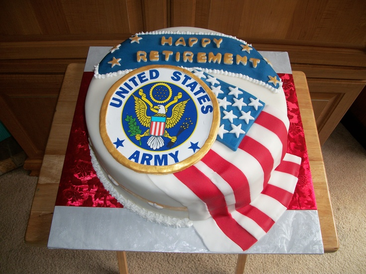 Army Retirement Cake Images : Pinterest: Discover and save creative ideas