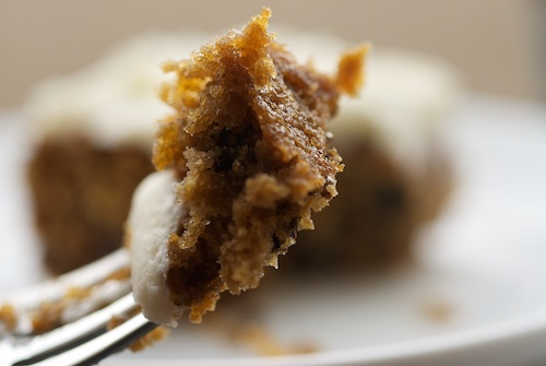 Oatmeal chocolate chip cake. I normally don't like cake, but I think I ...