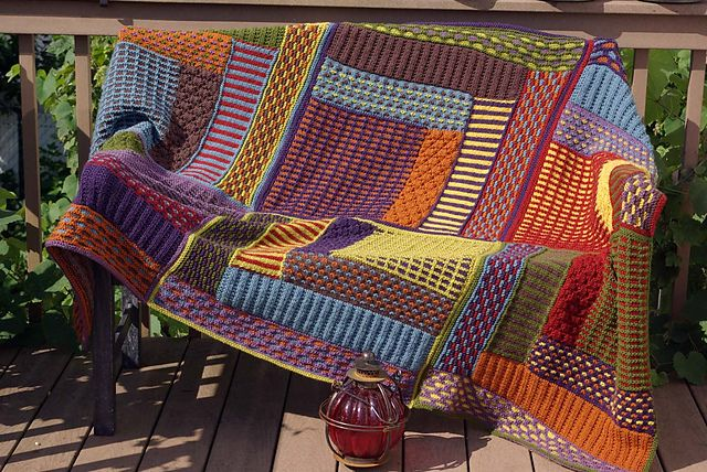 Knit Slip Stitch Afghan Pattern : Pin by Karen Perine on Knitting (and a little crochet!) Pinterest