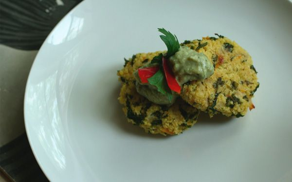 Millet croquettes with eggplant puree (gluten free and dairy free)