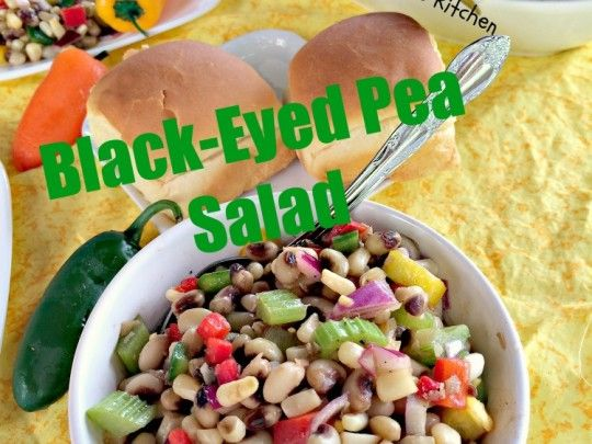 Black-Eyed Pea Salad - Can't Stay Out Of The Kitchen