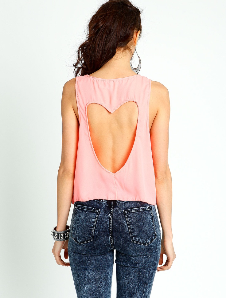 HEART CUT-OUT TOP | My Style | Pinterest