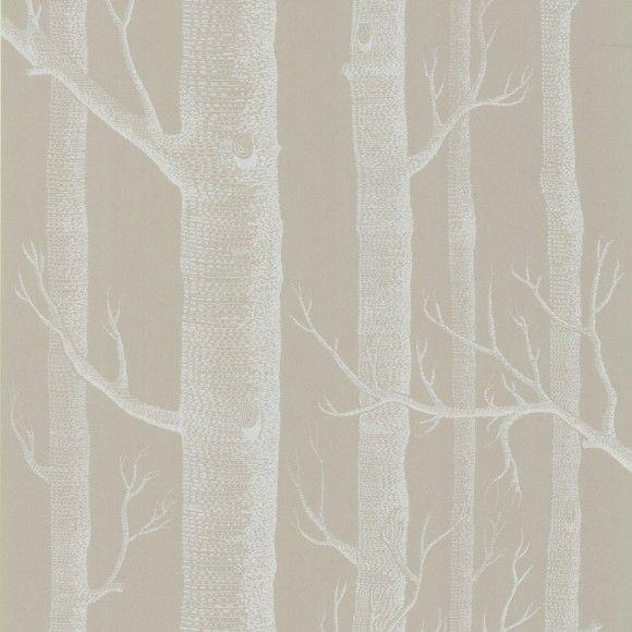 Papier peint for t taupe woods cole and son - Papier peint couleur taupe ...