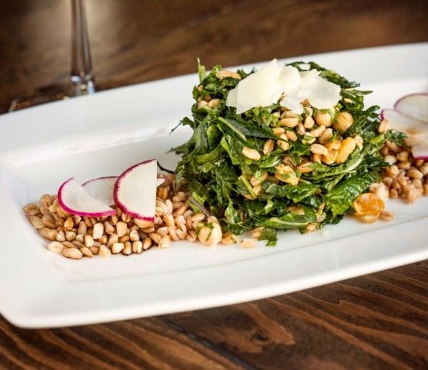 Colorful Farro and Kale Salad with a Honey Balsamic Dressing