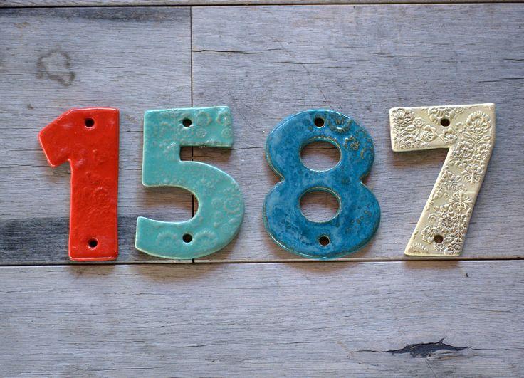 Ceramic tile address numbers