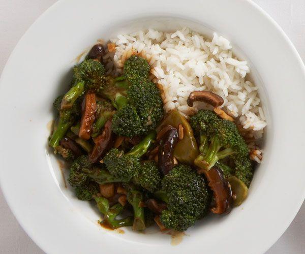 broccoli and shiitake stir-fry with black bean garlic sauce